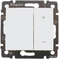 Legrand Valena - Tlačidlový stmievač 40 - 400W, biela - 770062