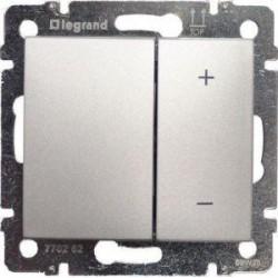Legrand Valena - Tlačidlový stmievač 40 - 600W, hliník - 770274