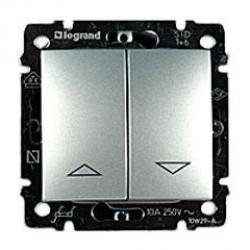 Legrand Valena - Tlačidlo ovládania žalúzií, hliník - 770114