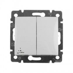 Legrand Valena - Dvojitý striedavý prepínač (5B) - IP44, biela - 770098