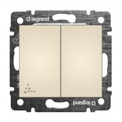 Legrand Valena - Dvojitý striedavý prepínač (5B) - IP44, béžová - 774198