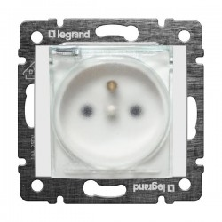 Legrand Valena - Zásuvka 2P s detskou ochranou - IP44, biela - 774221