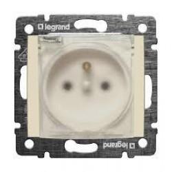 Legrand Valena - Zásuvka 2P s detskou ochranou - IP44, béžová - 774121