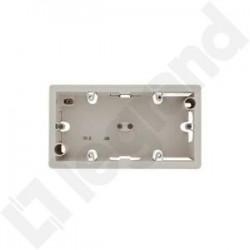 Legrand Valena - Dvojnásobná inštalačná prabica pre povrchovú montáž, hľbka 33mm, biela - 776182