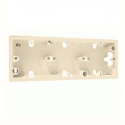 Legrand Valena - Trojnásobná inštalačná prabica pre povrchovú montáž, hľbka 33mm, béžová - 776133