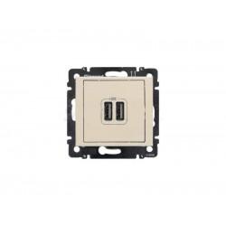 Legrand Valena - USB nabíjačky, 2x USB 1 500mA, béžová - 774170