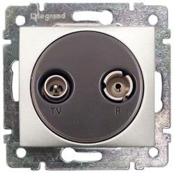 Legrand Valena - Zásuvka TV - RD - priebežná (1,5 dB), hliník - 770134