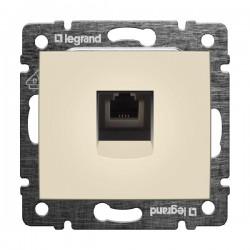 Legrand Valena - Telefónna zásuvka 1 x RJ11, béžová - 774338