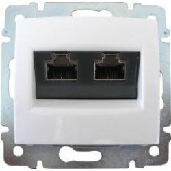 Legrand Valena - Dátová zásuvka 2 x RJ 45, kat. 6, FTP, biela - 774233