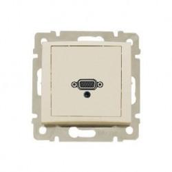 Legrand Valena - Zásuvka HD 15 + jack 3,5mm, béžová - 774182