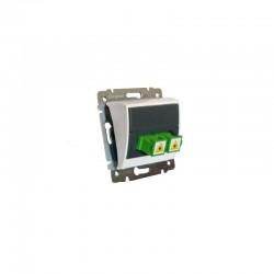 Legrand Valena - Optická zásuvka 2x simplex spojka SC/APC, biela - 770081