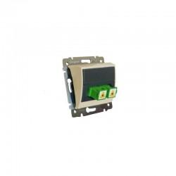 Legrand Valena - Optická zásuvka 2x simplex spojka SC/APC, béžová - 774181