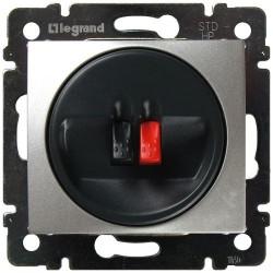 Legrand Valena - Jednoduchá reproduktorová zásuvka, hliník - 770223
