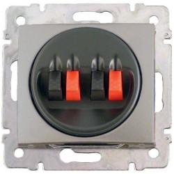 Legrand Valena - Dvojitá reproduktorová zásuvka, hliník - 770124