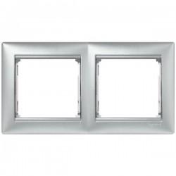 Legrand Valena - Dvojnásobný rámik, hliník - 770152