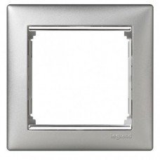 Legrand Valena - Jednoduchý rámik, hliník/strieborný prúžok - 770351