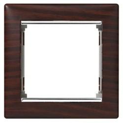 Legrand Valena - Jednoduchý rámik, wenge/strieborný prúžok- 770371