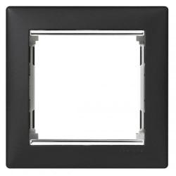 Legrand Valena - Jednoduchý rámik, čierna/strieborný prúžok - 770391