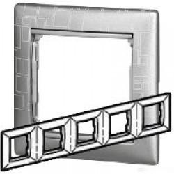Legrand Valena - Päťnásobný rámik, hliník graph - 770345
