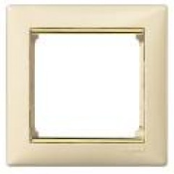 Legrand Valena - Jednoduchý rámik, béžová/zlatý prúžok - 774151