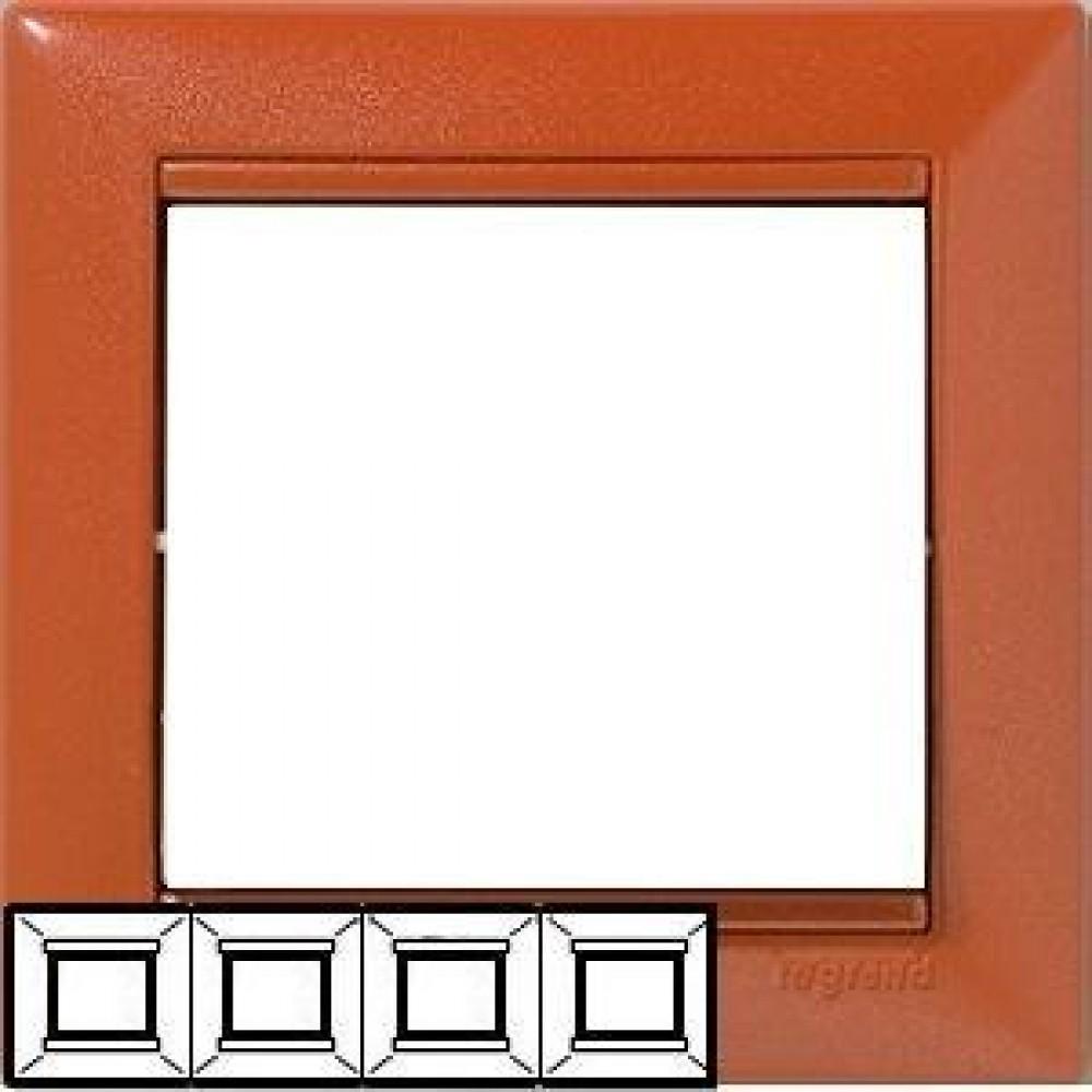 Legrand Valena - Štvornásobný rámik, meď - 770014
