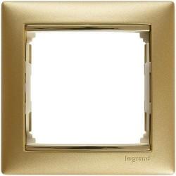 Legrand Valena - Jednoduchý rámik, zlato matné/zlatý prúžok - 770301
