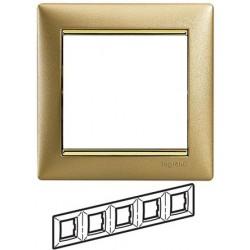 Legrand Valena - Päťnásobný rámik, zlato matné/zlatý prúžok - 770305