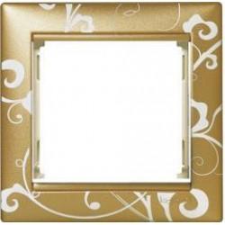 Legrand Valena - Jednoduchý rámik, zlato barokové matné - 770020