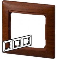 Legrand Valena - Trojnásobný rámik, drevo tónované - 770313