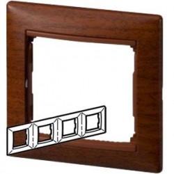 Legrand Valena - Štvornásobný rámik, drevo tónované - 770314