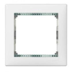 Legrand Valena - Jednoduchý rámik, biela/priehľadný prúžok - 774461