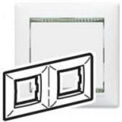 Legrand Valena - Dvojnásobný rámik, biela/priehľadný prúžok - 774462
