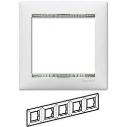 Legrand Valena - Päťnásobný rámik, biela/priehľadný prúžok - 774465