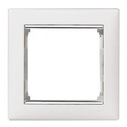 Legrand Valena - Jednoduchý rámik, biela/strieborný prúžok - 770491
