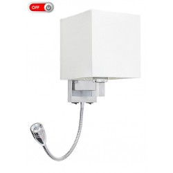 Rábalux LARKYN 6530 Nástenné svietidlo, E14 max. 40W + LED 3W (205lm, 2800K)