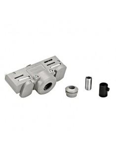 Schrac Technik LI145994  EUTRAC 3f lištový adaptér,strieborný, s montážnou spojkou